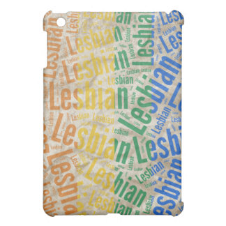 LESBIAN WORD PATTERN COLOR COVER FOR THE iPad MINI