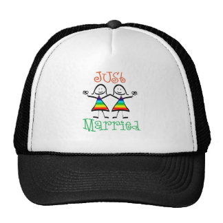 Lesbiana apenas casada gorras de camionero