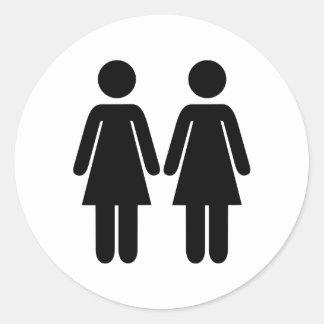 Lesbiana Etiquetas Redondas