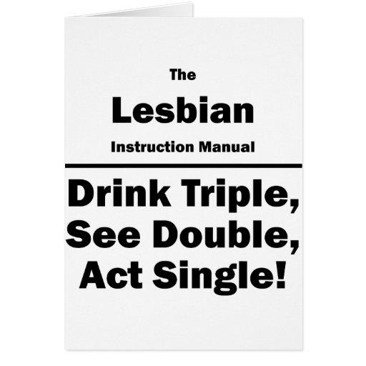 lesbiana tarjeta pequeña