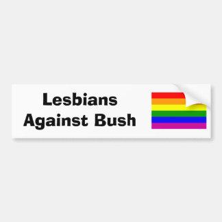 Lesbianas contra la pegatina para el parachoques d pegatina de parachoque