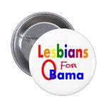 lesbianas para el botón de obama pin