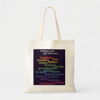 lesbians and gay men are ...tote bag