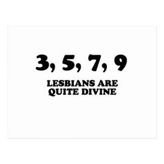 LESBIANS ARE QUITE DIVINE POSTCARD