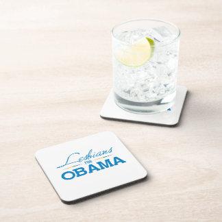 Lesbians for Obama Beverage Coaster