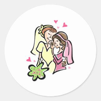 Lesbians in Love Classic Round Sticker