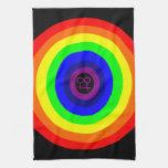 Lesbians Round Rainbow Kitchen Towel