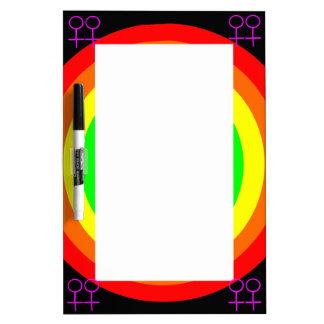 Lesbians Round Rainbow Memo Board Dry-Erase Whiteboards