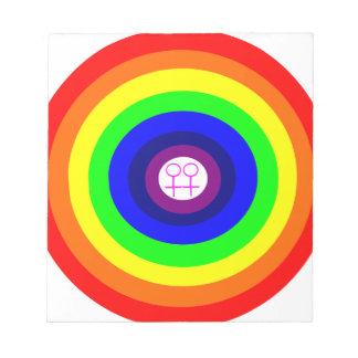 Lesbians Round Rainbow Notepad