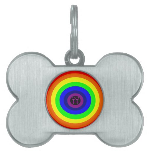 Lesbians Round Rainbow Pet Tag
