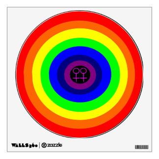 Lesbians Round Rainbow Wall Decal