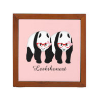 Lesbihonest pandas desk organizers