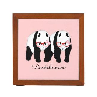 Lesbihonest pandas pencil holder