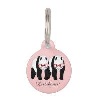 Lesbihonest pandas pet ID tag