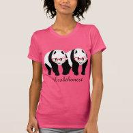 LESBIHONEST pandas T-shirt