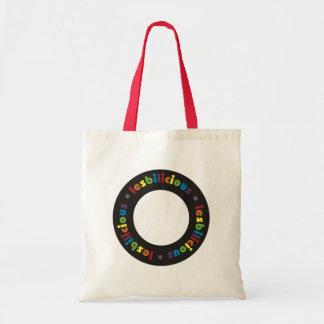 Lesbilicious (Cirlce) Tote Bag