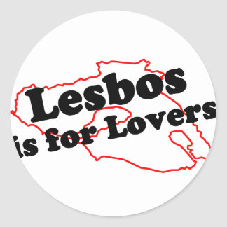 Lesbos Is For Lovers Classic Round Sticker