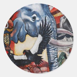 Lesedi Cultural Village Classic Round Sticker