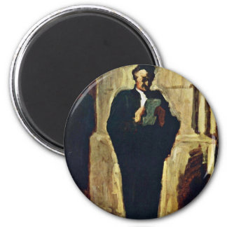 Lesender Lawyer By Daumier Honoré Magnets
