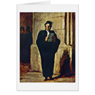 Lesender Lawyer By Honore Daumier Card