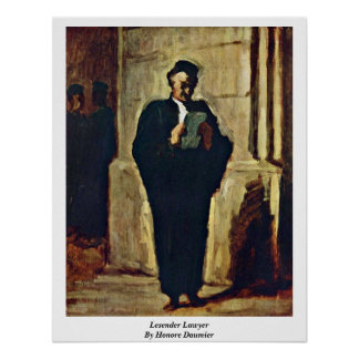 Lesender Lawyer By Honore Daumier Poster