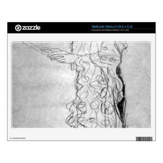 Lesendes girl in profile by Gustav Klimt Netbook Skin