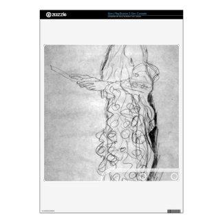 Lesendes girl in profile by Gustav Klimt Skins For PS3 Slim