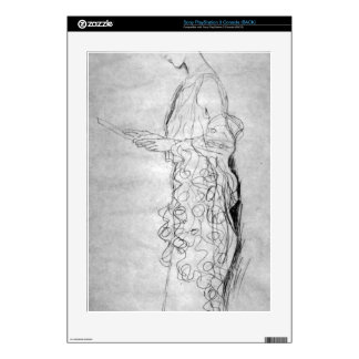 Lesendes girl in profile by Gustav Klimt PS3 Decals
