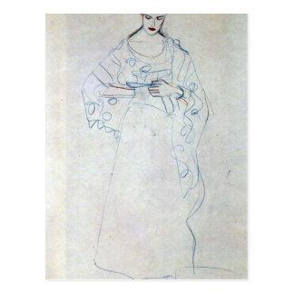 Lesendes girls by Gustav Klimt Postcard