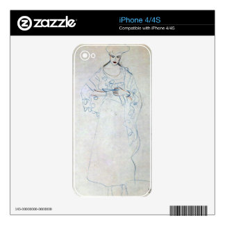 Lesendes girls by Gustav Klimt Decal For The iPhone 4