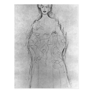 Lesendes girls II by Gustav Klimt Postcard