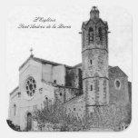 L'Església -  Sant Andreu de la Barca Pegatina Cuadradas Personalizada