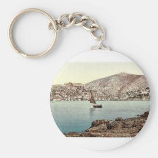 Lesina, from the sea, Dalmatia, Austro-Hungary mag Key Chains