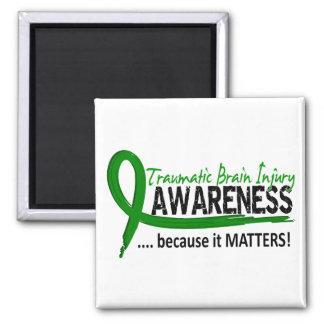 Lesión cerebral traumática TBI de la conciencia 2 Imanes