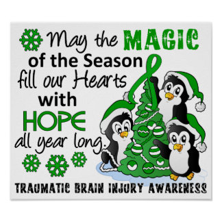 Lesión cerebral traumática TBI de los pingüinos de Posters