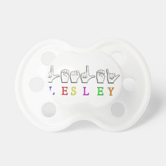 LESLEY FINGER SPELLED ASL NAME SIGN BABY PACIFIERS