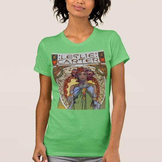 Leslie Carter by Art Nouveau master Alphonse Mucha T-Shirt