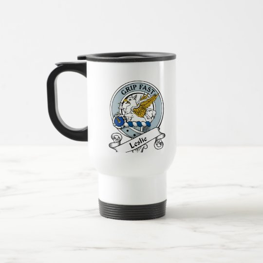 Leslie Clan Badge Travel Mug