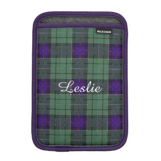 Leslie clan Plaid Scottish tartan iPad Mini Sleeve