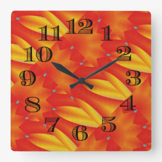 "Leslie Harlow ""Cool"" Abstract Clock Design"
