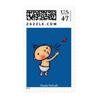 Leslie Patricelli Blow a Kiss Baby Postage Stamp