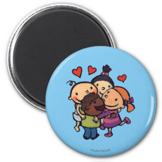 Leslie Patricelli Group Hug with Friends 2 Inch Round Magnet