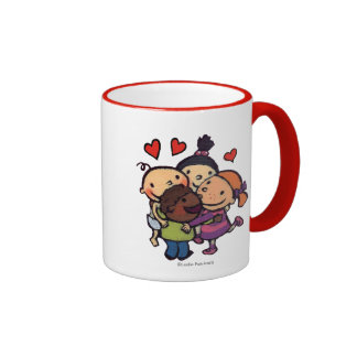 Leslie Patricelli Group Hug with Friends Ringer Coffee Mug