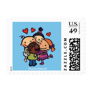 Leslie Patricelli Group Hug with Friends Stamp