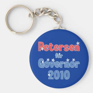 Leslie Petersen for Governor 2010 Star Design Keychain