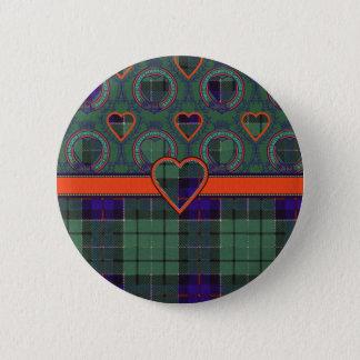 Leslie Scottish tartan Button