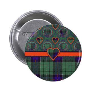 Leslie Scottish tartan Pinback Buttons