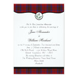 Leslie Tartan Plaid & Thistle Wedding Invitations