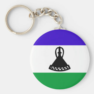 Lesotho country long flag nation symbol republic keychain