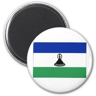 Lesotho Flag 2 Inch Round Magnet